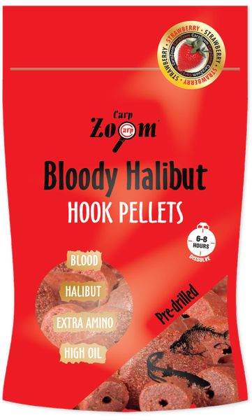 Strawberry Hallibut Hook Pellets 150 g - 20 mm