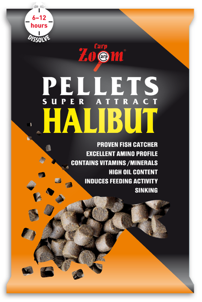 Carp Zoom Feeding Halibut Pellet 6mm 800g