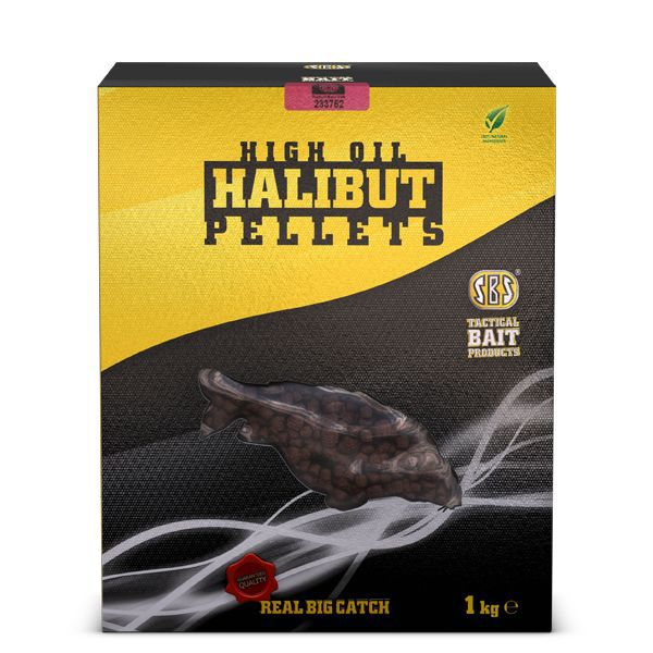 SBS HIGH OIL HALIBUT PELLETS FISH 1 KG 8 MM