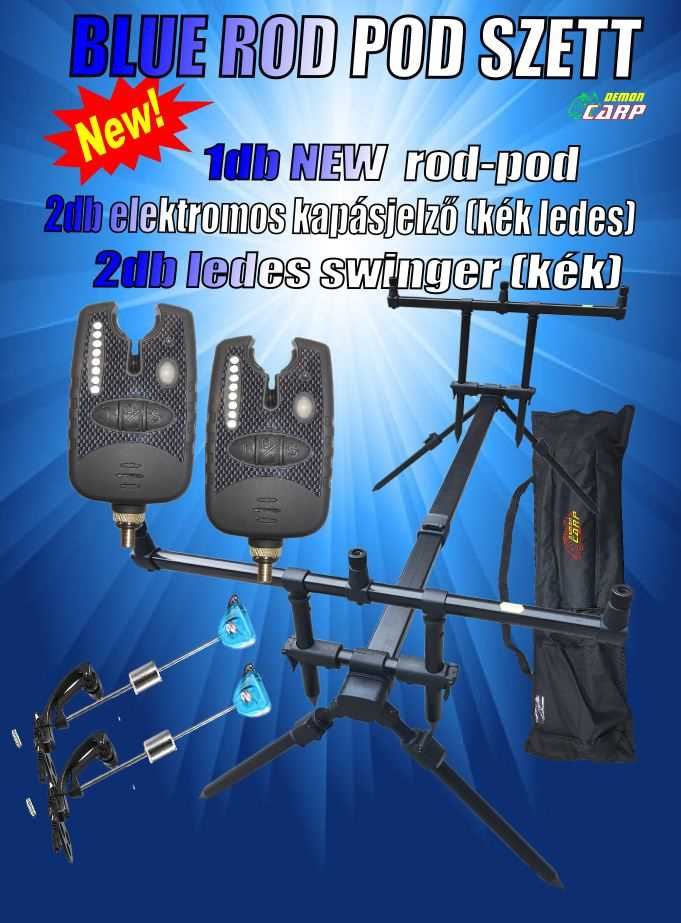 Demon Carp Blue Rod Pod Szett