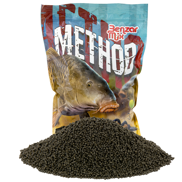 Benzar Method Pellet Black  Halibut 2 mm 800gr