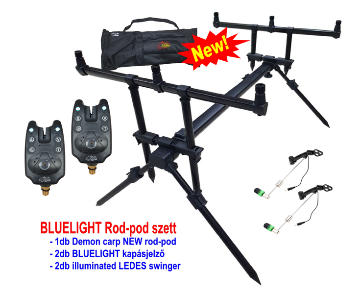 DEMON CARP BLUELIGHT rod pod szett