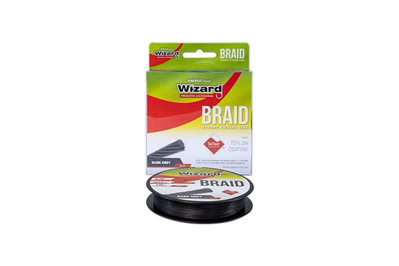 WIZARD BRAID GREY 135M DARK GREY