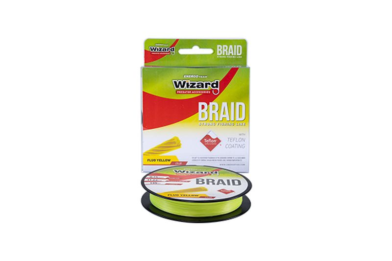 WIZARD BRAID YELLOW 135M FLUO YELLOW