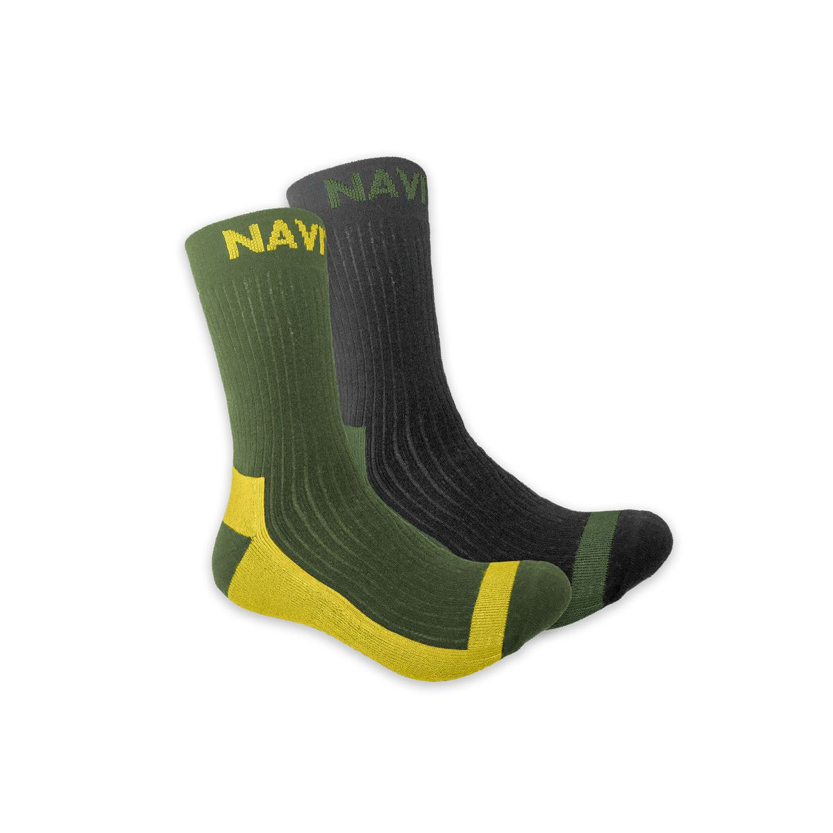 NAVITAS COOLMAX CREW SOCK TWIN PACK GREEN