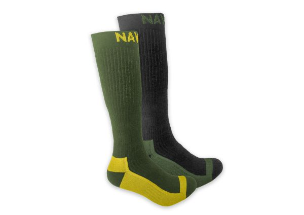 NAVITAS COOLMAX BOOT SOCK TWIN PACK GREEN
