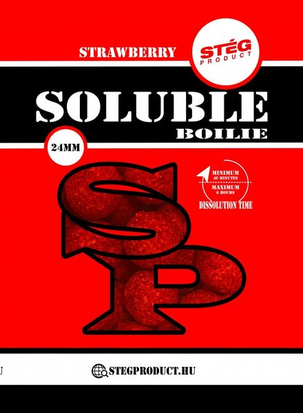STÉG PRODUCT SOLUBLE BOILIE 24 MM STRAWBERRY1 KG