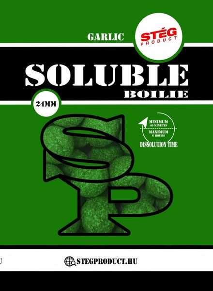 STÉG PRODUCT SOLUBLE BOILIE 24 MM GARLIC 1 KG
