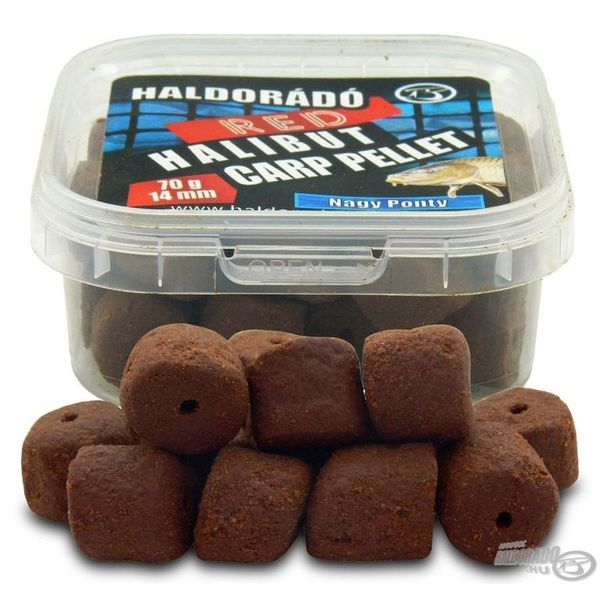 Haldorádó Red Halibut Carp Pellet 14 mm - Nagy Ponty